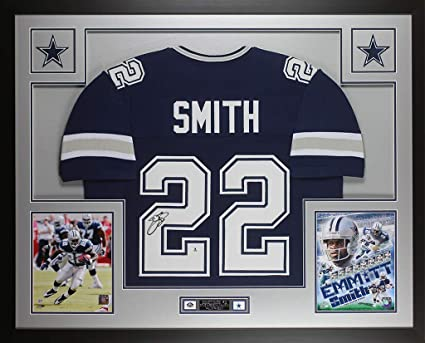 official photos 128b0 6b41a Emmitt Smith Autographed Blue Dallas Cowboys Jersey ...