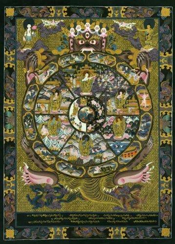 The Wheel Of Life Big Tibetan Mandala Print Asian Art Buddah Buddhism Buddhist