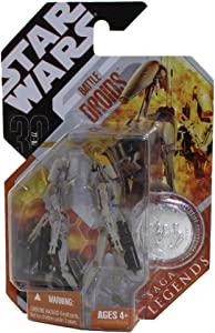 Hasbro Star Wras Saga Legends Battle Droids Variant Gray and Tan Paint