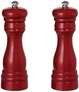 product image for Fletchers' Mill Federal Salt & Pepper Mill, Cinnabar - 6 Inch, Adjustable Coarseness Fine to Coarse, MADE IN U.S.A.