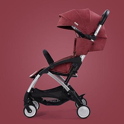 QQB &Carro Plegable Bebé niños Bebé niños Carro de Cuatro Ruedas Silencioso Alto Valor Nominal Cochecito