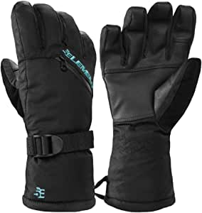 5th Element Stealth Womens Ski and Snowboard Waterproof Touchscreen Gloves Black