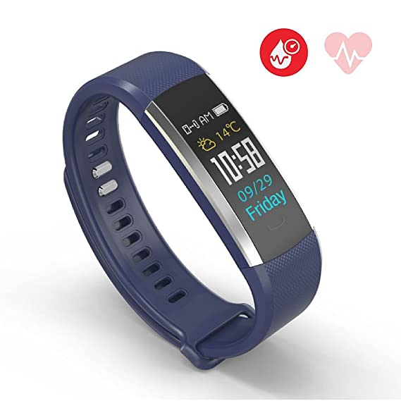 Amazon.com : Jarv Run-Fit PRO Activity Tracker Bluetooth Smartwatch Fitness Band for iPhone or Android w/OLED Display, 7 Day Battery, Blood Pressure & Heart ...