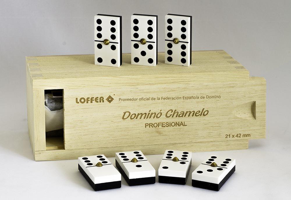 Loffer - Dominó Profesional Chamelo, Caja de Madera (Domarch A351M): Amazon.es: Juguetes y juegos