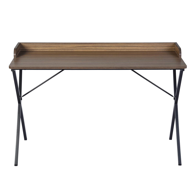120 cm FURNITURE-R France Escritorio Moderna Minimalista Mesa Elegante Dise/ño Madera Estructura met/álica Negro