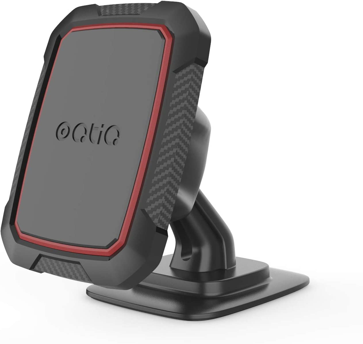 OQTIQ Magnetic Phone Car Mount, Hands Free Phone Holder for Car with Strong VHB Adhesive Stick on Dashboard, Phone Holder Office Desk Stand Powered by 6 Strong Magnets