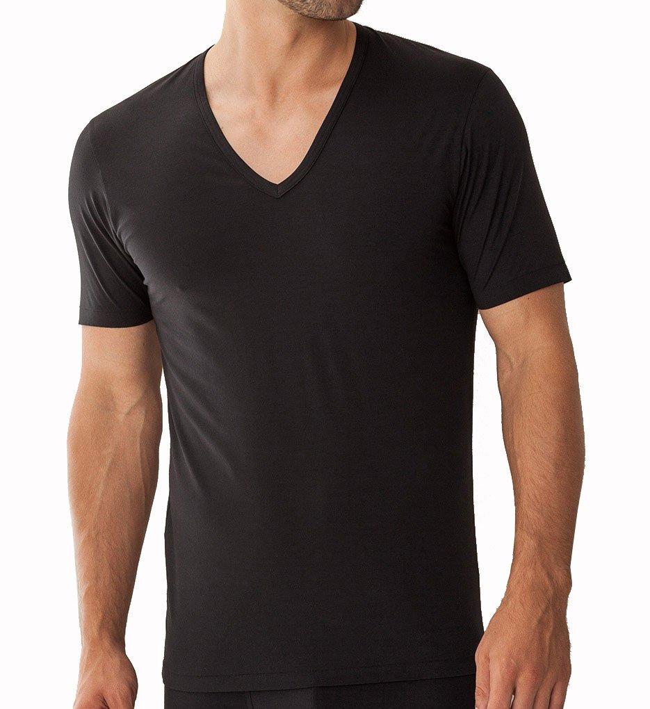 Zimmerli Pure Comfort V-neck Shirt 2Xlarge/Black