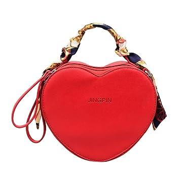 6150449d3227c JAGENIE Frauen Lady Herzform Schultertasche Tote Handtasche Messenger  Crossbody Taschen Rot