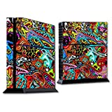 playstation 4 detail stickers - MightySkins Skin for Sony PS4 Console - Acid Trippy   Protective, Durable, and Unique Vinyl Decal wrap Cover   Easy to Apply, Remove, and Change Styles   Made in The USA