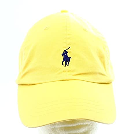 467270f454496 Amazon.com   Polo Ralph Lauren Mens Twill Embroidered Ball Cap Yellow O S    Sports   Outdoors