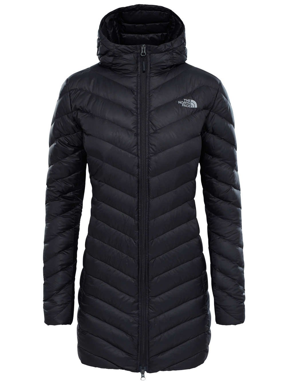 Black quilted North Face parka