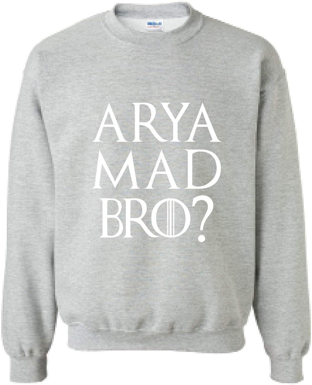 3XL, Sporty Grey Allntrends Adult Sweatshirt Arya Mad Bro Cool Popular Fans Top