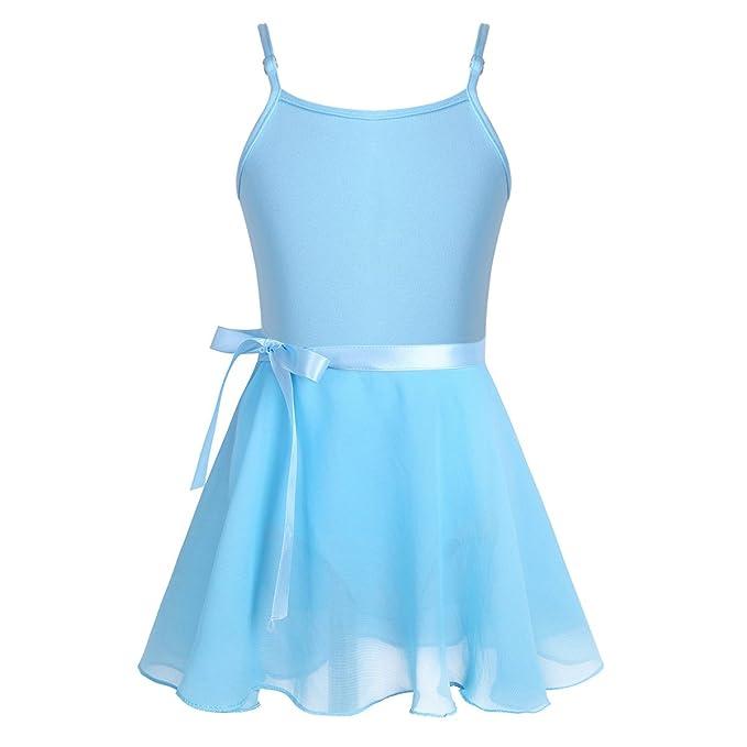 Freebily Conjunto Vestido Maillot de Danza Ballet Falda Tutú para Niña (3-14 Años