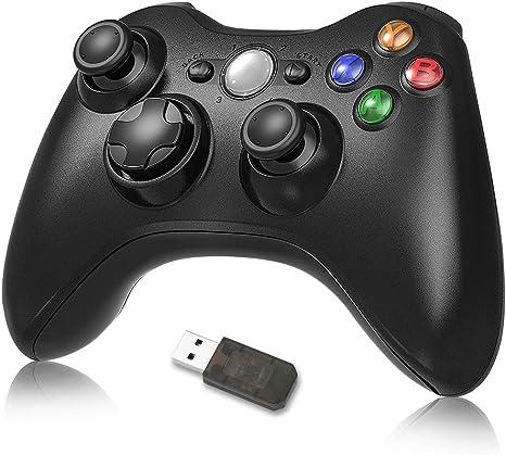 Controlador Xbox 360 Achort, controlador de juegos inalámbrico Joystick gamepad 2.4 G, controlador de juegos Joypad, control remoto Diseño ergonómico mejorado para PC Xbox 360: Amazon.es: Videojuegos