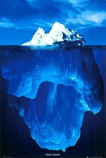 amazon com 24x36 hidden depths iceberg art poster print titanic