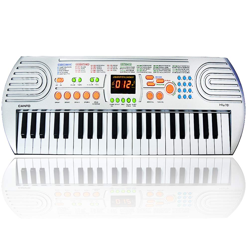 FillADream 44 Keys Kids Piano, Multifunctional Dual Speakers Portable Electronic Standard Size Keyboard for Kids Learning and Practice
