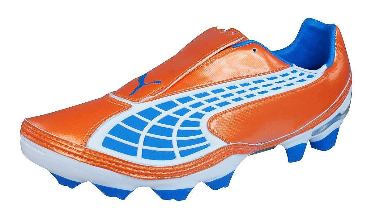 Puma V 1.10 II FG Fussballschuhe fluo orange-Blau aster Weiß - 45