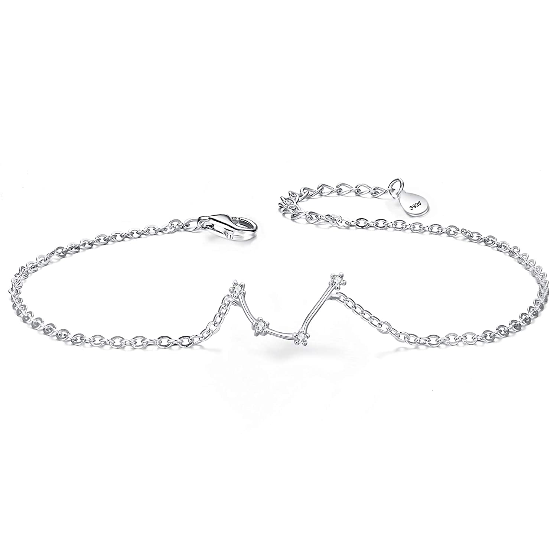 Charm Bracelets Bracelets & Bangles Women Fashion Silver Chain Bracelet 12 Zodiac Sign Pisces Taurus Gemini Leo Virgo Libra Capricorn Zodiac Jewelry Bangle Bracelet To Enjoy High Reputation In The International Market