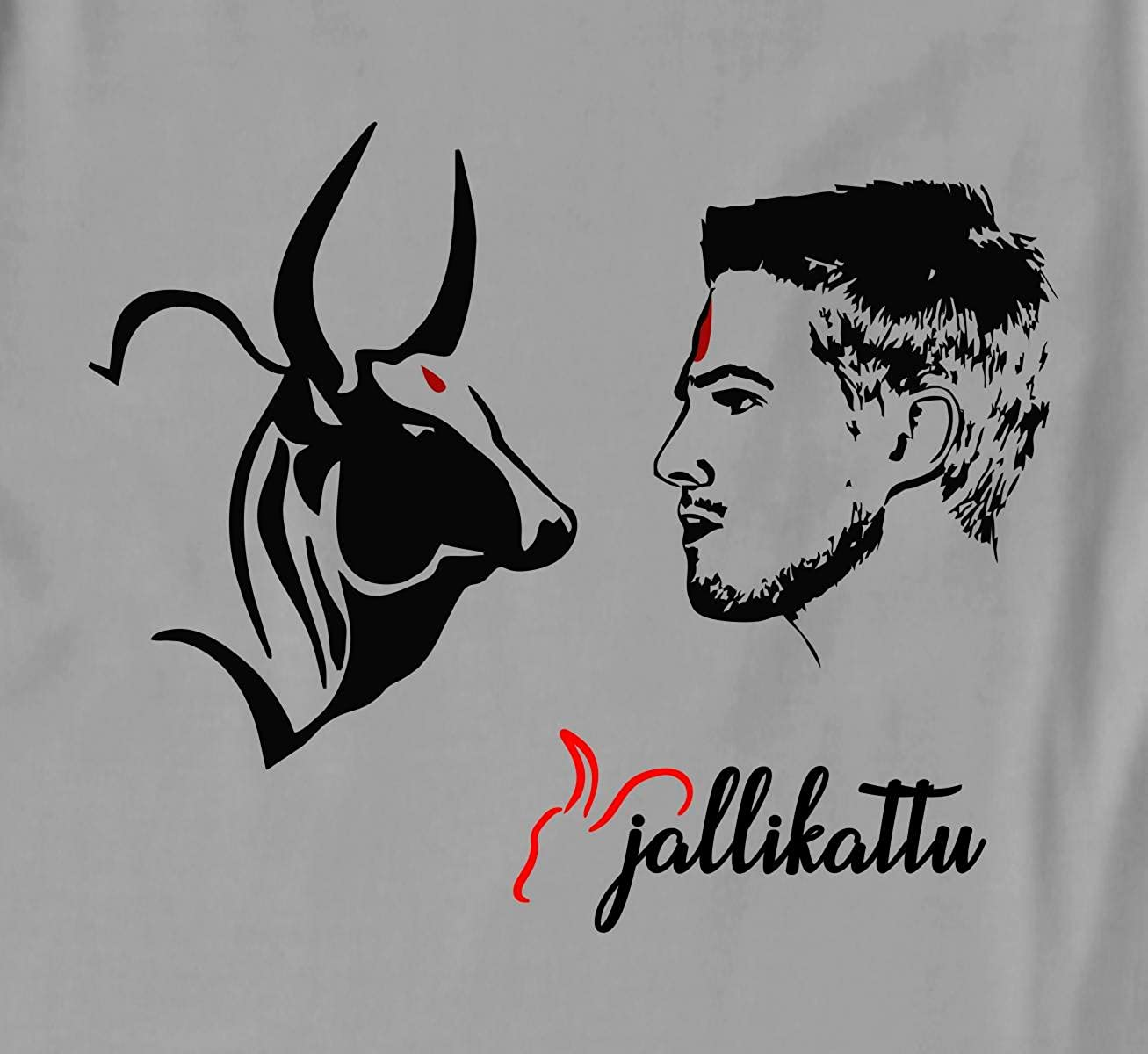 Rawpockets 100 cotton graphic print jallikattu t shirt amazon in clothing accessories