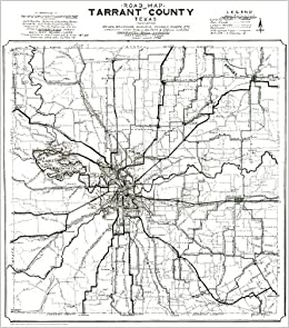 1920 Early Tarrant County ~ Fort Worth Road TX Map~ Print 24\