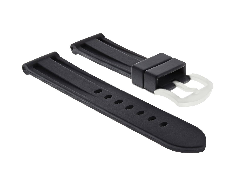 24 mm Rubber Watch Band Strap for PAM 312 Panerai 44 mm Luminor Marina 1950 black1  B07D6PL4TC