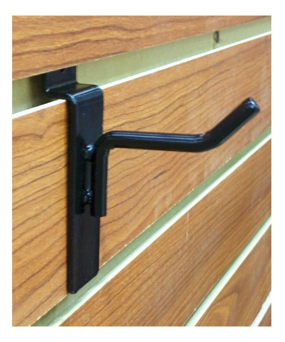 Black 100 Pieces 2 Slatwall Metal Hooks