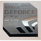 NVIDIA GEFORCE GTX Polished Metal Sticker 18mm x 18mm [840]