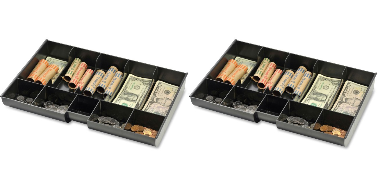 Mmf Industries Replacement Plastic Money Tray, 14-3/4 X 9-15/16 X 2-1/8 Inches, Black (mmf221m23), 2 Packs