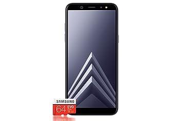 Samsung Galaxy A6 + Smartphone (2018) + tarjeta SD de 64 GB - Gris, [versión alemana]