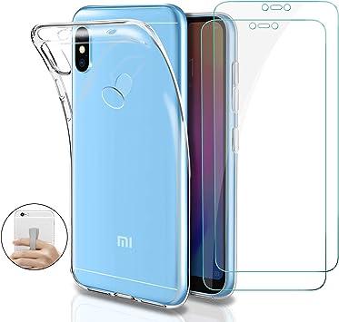 Younme Funda para Xiaomi Mi A2 Lite Silicone Transparente, Carcasa ...