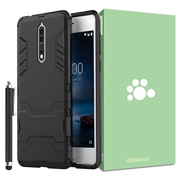 official photos 89ea0 77815 Amazon.com: Nokia 8 Case [Built-in Kickstand] [Shock Absorbing ...