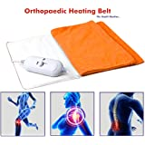 Heating Belt , Elove Orthopaedic Electric Heating Belt for Pain Relief - For Back, Abdominal, Knee and more (Cloth Color may vary) - LARGE