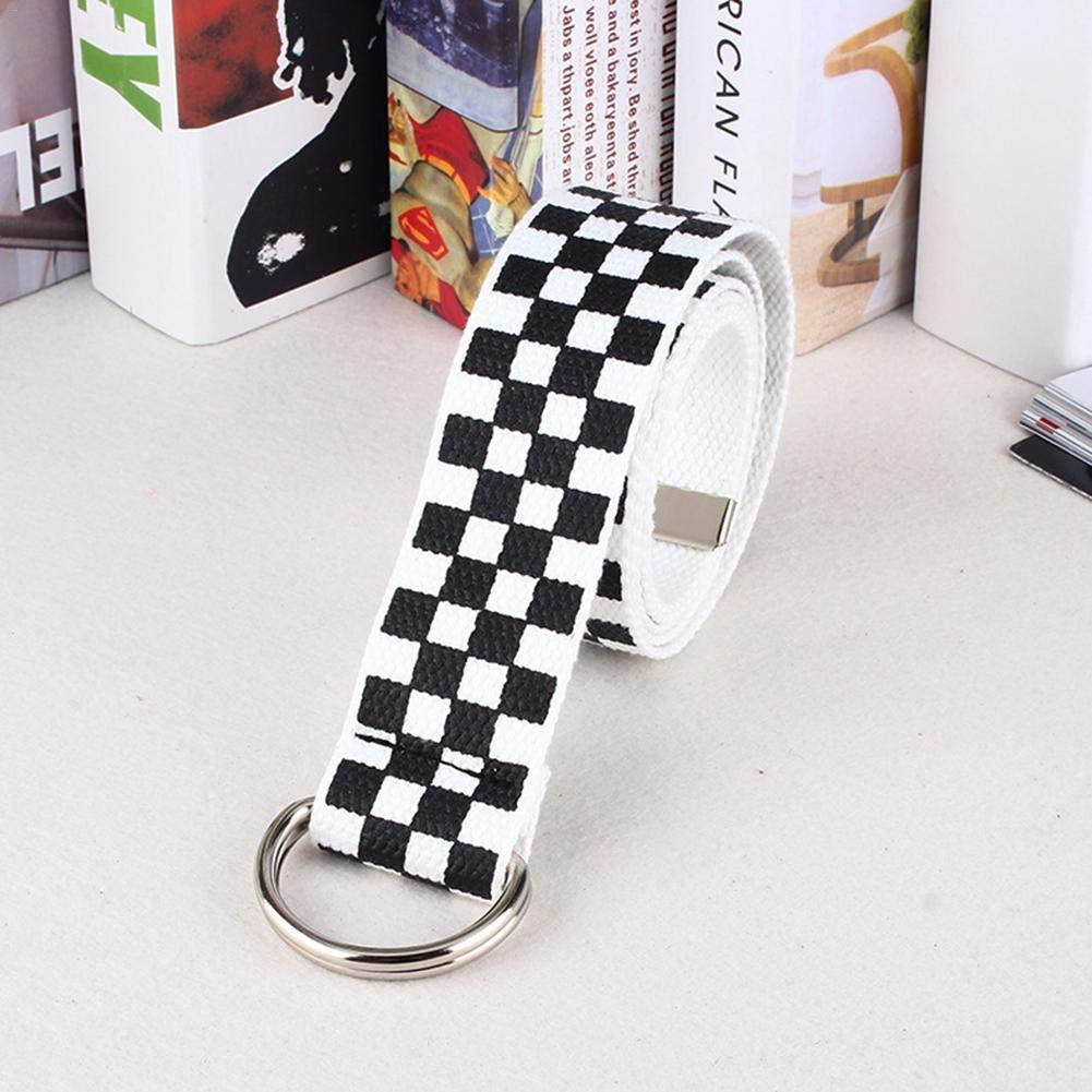 da Donna Stile Casual luckything Cintura per Scacchi 130 cm Bianco e Nero Nero in Tela a Quadretti Nero e Bianco a Quadretti