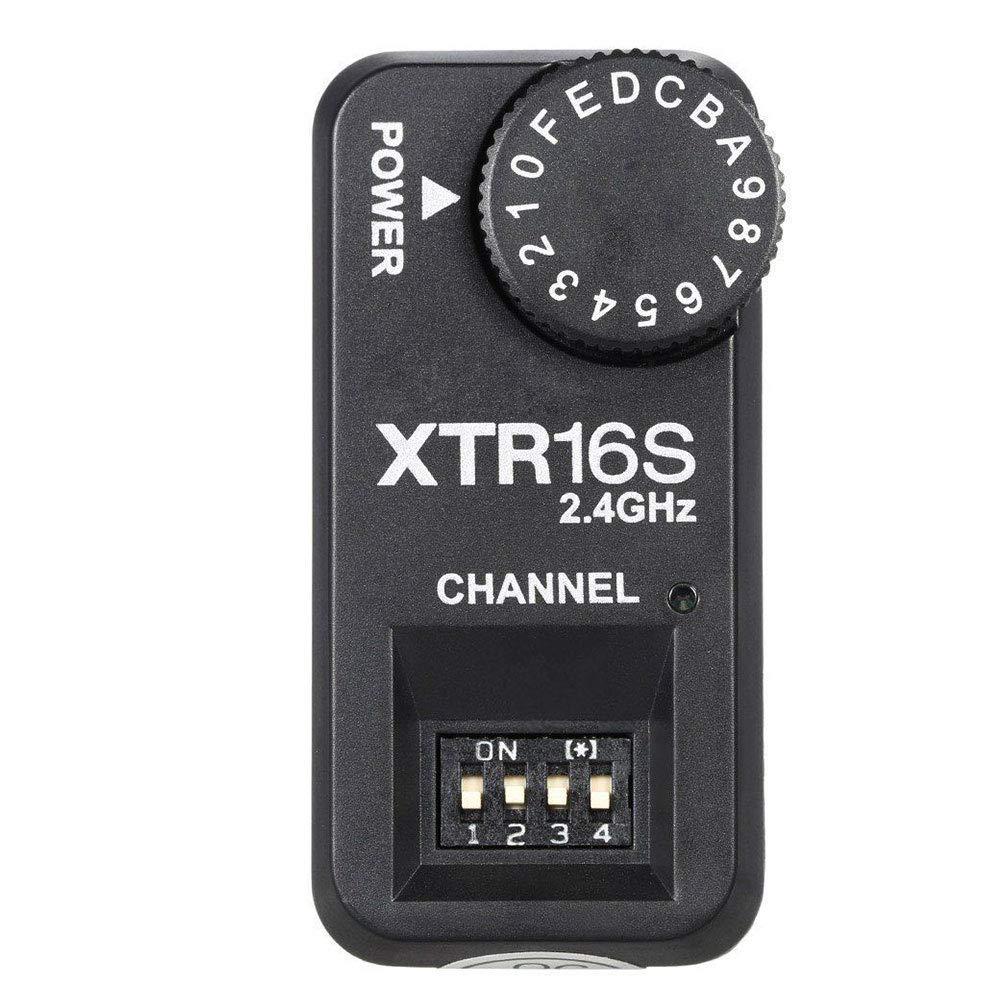 MOOUS フラッシュトリガーレシーバー アクセサリー ラジオ 16チャンネル ライト 写真撮影 2.4G ワイヤレス スピードライト 耐久性 カメラ リモートスタジオ X1C X1N XT-16S用 free size ブラック 15468792002364  ブラック B07M7D1Q74