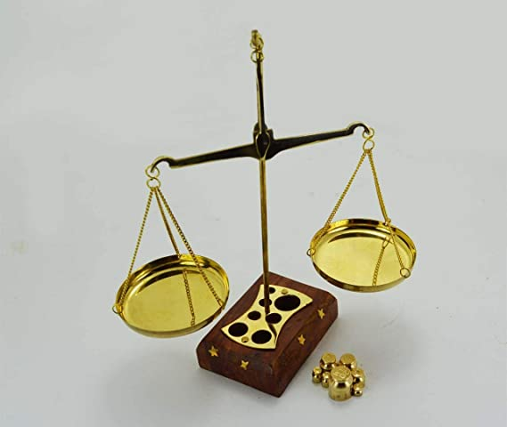 Hermosa báscula de latón para decoración de balanza de justicia ...