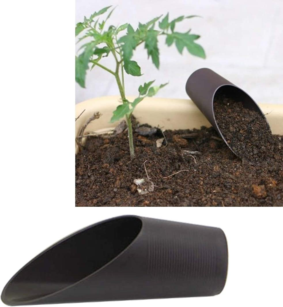 Happy grocery shop Sencillo Cuchara para el Suelo de Pala Cuchara para Plantar Herramientas de jardinería, Plantas para jardinería con Pala, tamaño: 17.5 * 5.5 * 5.5cm, plástico, Material de Resina