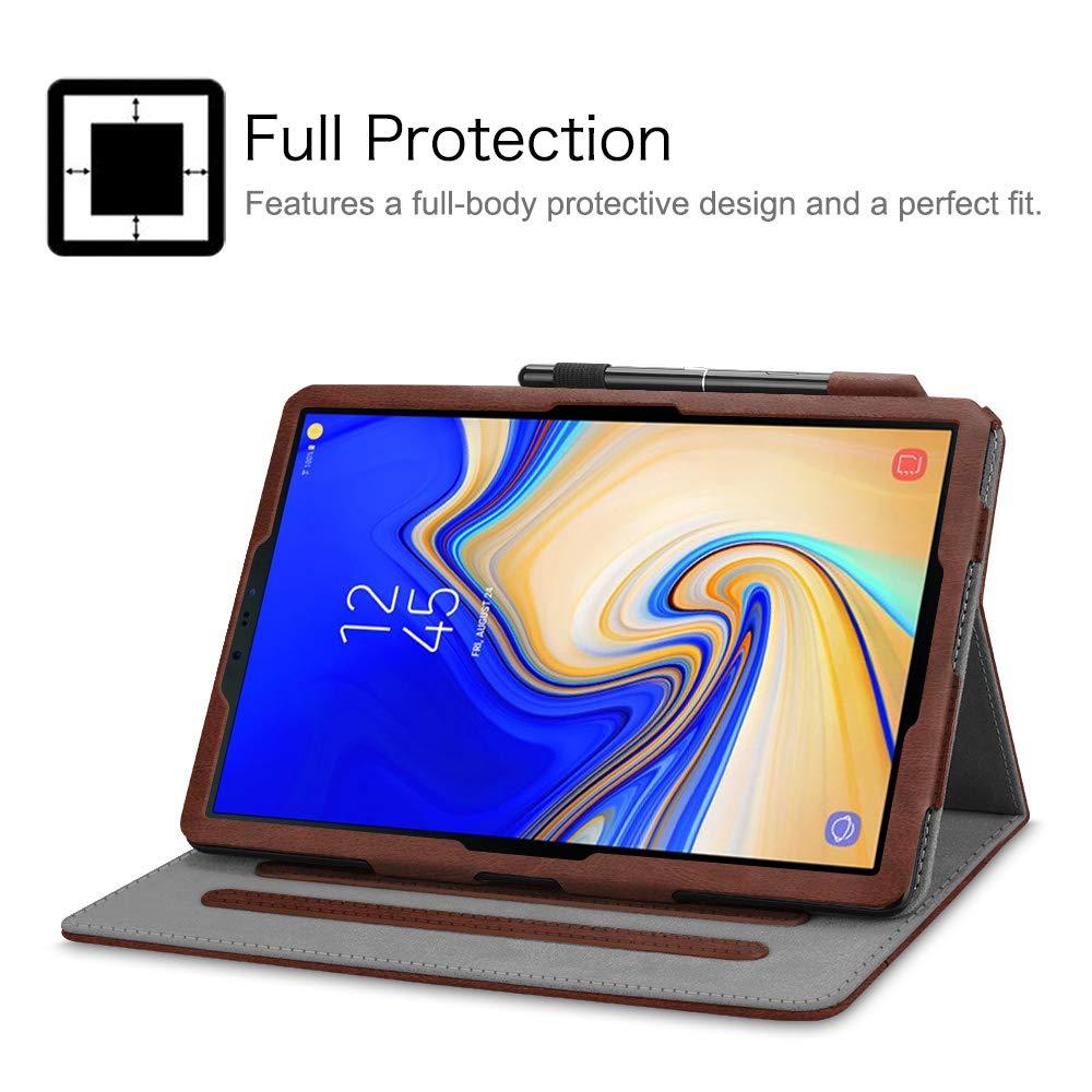 Multi/ángulo Protecci/ón de Esquina Fintie Funda para Samsung Galaxy Tab S4 10.5 - Folio Carcasa con Bolsillo y Soporte de S Pen Auto-Reposo//Activaci/ón para Modelo SM-T830//T835 Dual Color