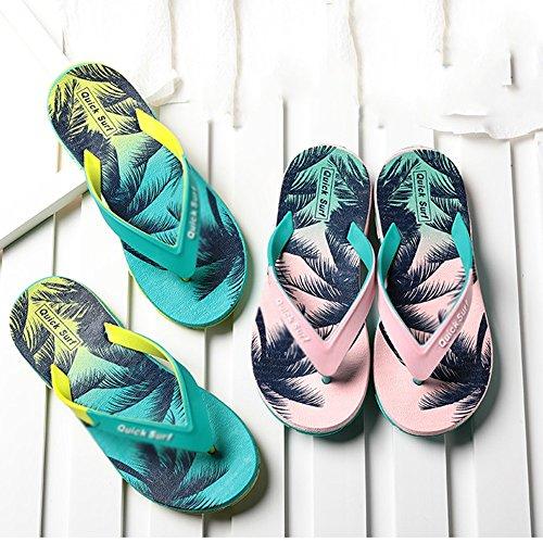 Verano Sandalias Color mar tamaño 5 de de CN38 04 antideslizante Moda 01 Zapatillas Color al coreano Tamaño EU38 Chanclas opcional UK5 junto Wear Sandalias verano playa rqw86gUr