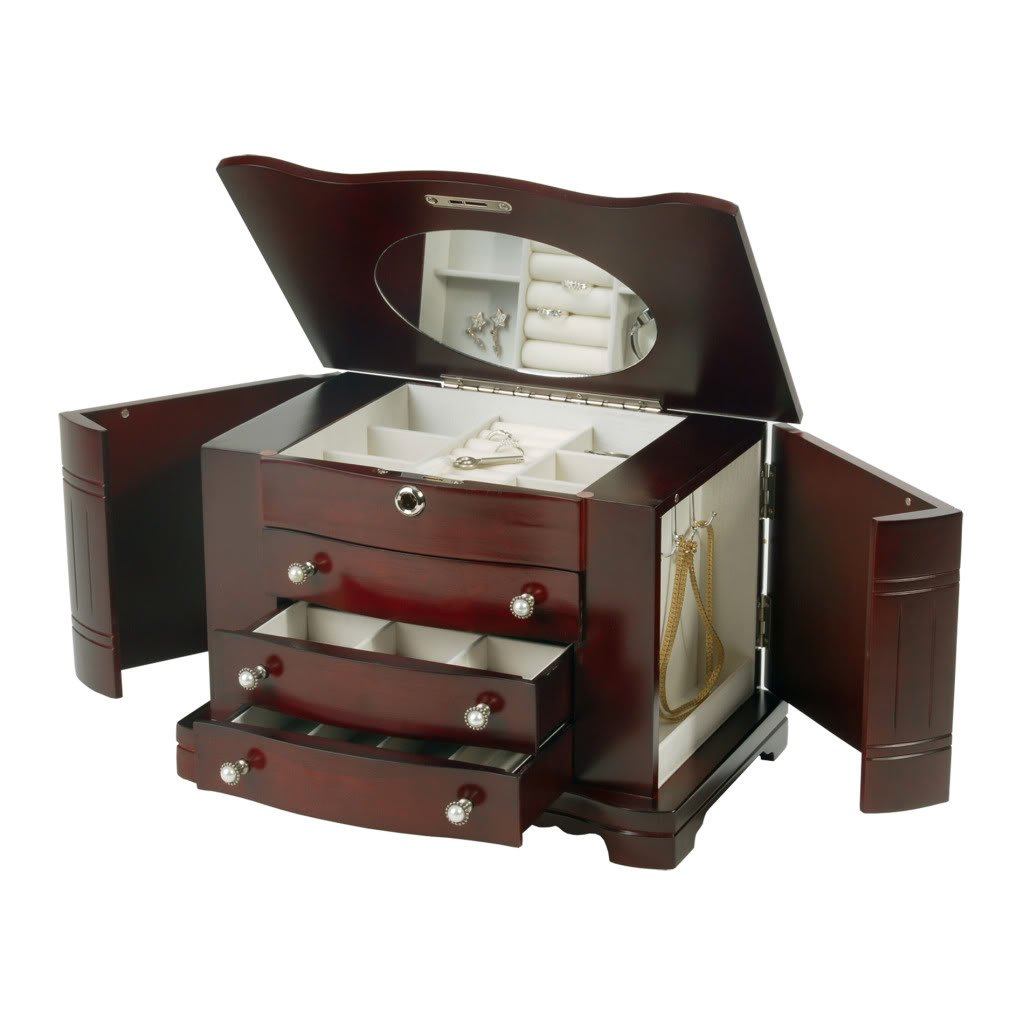 Rita Mele & Co. Jewelry Box in Cherry by Mele & Co. (Image #1)