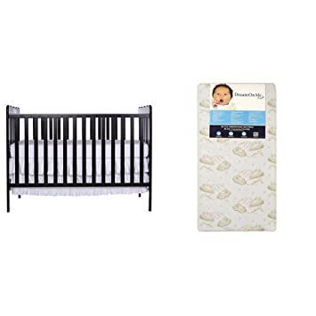 """Dream On Me Spring Crib and Toddler Bed Mattress Twilight size 52/"""" X 27/"""" X 6/"""""""
