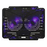 Tarkan Dual Fan Cooling Pad with Dual LED, Fan Control Switch, USB 2.0 Hub, Multi Angle Stand, Suitable for upto 15.6 inch Laptops