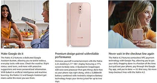 Nokia 4.2 con Android One (32 GB, 3 GB) 5.71 pulgadas, pantalla ...