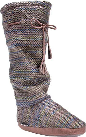 ebb84475e54 MUK LUKS Women s Tall Grace Tie Slipper Boot