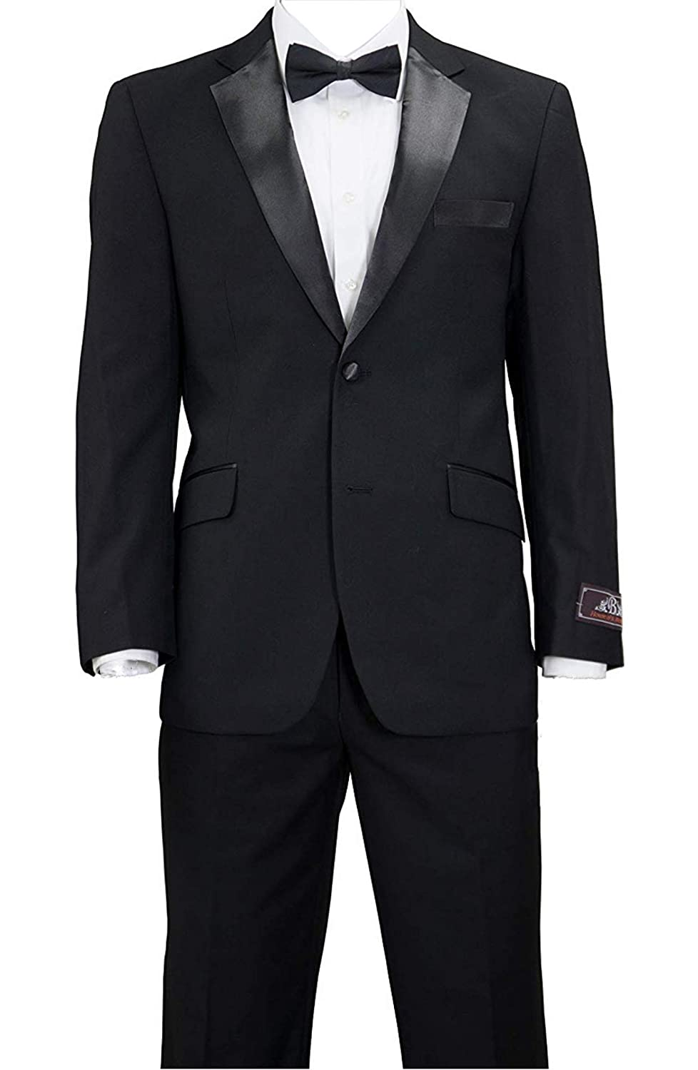 2a2c77d16 House of St. Benets Modern Fit Tuxedo - Black, 42 Long at Amazon Men's  Clothing store: