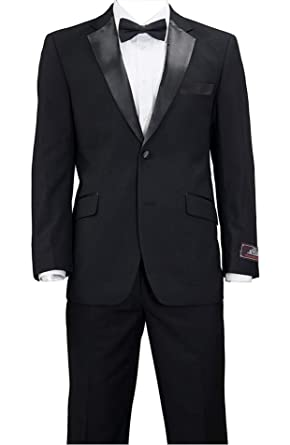 739994cb991 House of St. Benets Modern Fit Tuxedo - Black, 42 Long at Amazon ...