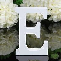 Décoratif Bois Lettres, 26 Alphabet Blanc Lettres en Bois pour Déco Nom des Enfants Fête d'anniversaire de Mariage Décoration de maison et de chambre à coucher