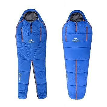 Naturehike Saco de dormir de forma humana imitación seda algodón separar los sacos de dormir,