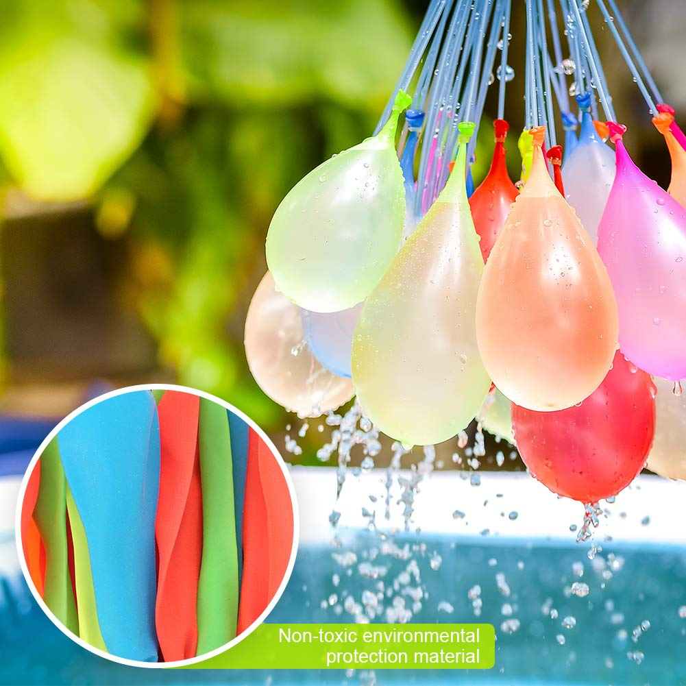 MAOXIAN Water Balloons for Kids Girls Boys Balloons Set Party Games Quick Fill Water Balloons (592 Pack) Swimming Pool Outdoor Summer Fun (Multicolored) by MAOXIAN (Image #4)
