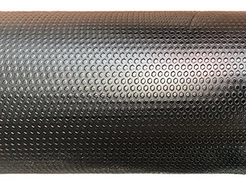 AMERIQUE 691322303438 Premium 3Rd Generation Unique and Durable Embossed Diamond Plate Metallic Vinyl Flooring, Roll Size: 2Mm x 4' x 25' 100Sqft, Black Diamond, 100 Square Feet by AMERIQUE (Image #1)