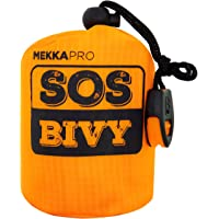 MEKKAPRO SOS Emergency Thermal Bivy Sleeping Bag with Survival Whistle, Survival Bivvy Sack, Mylar Emergency Blanket